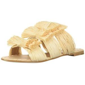 Pour La Victoire PLV raffia bow slide sandal